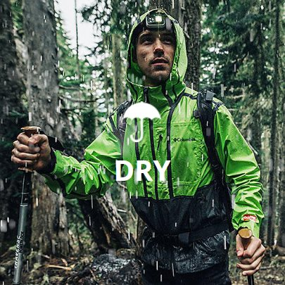 Waterproof and breathable products - Find everything you need to stay dry.